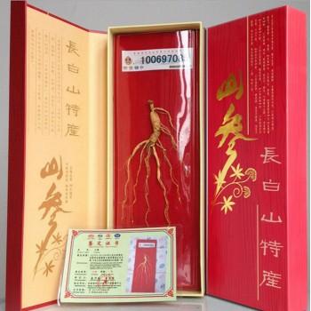 40红纸盒人参礼盒 长白山人参