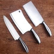 厂家三件套不锈钢套刀具套装空心柄厨房菜刀阳江刀具组合礼品现货