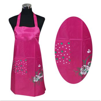 PVC单兜涂皮围裙(富贵花)