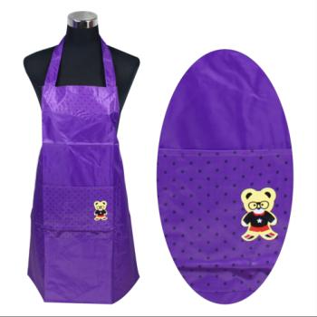 PVC单兜涂皮围裙(小熊)