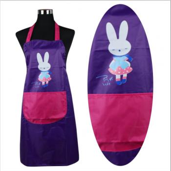 PVC单兜涂皮围裙(小兔子)