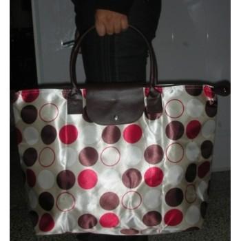 色丁布大号挎包购物袋