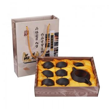 低价紫砂茶具1壶6杯彩盒会销礼品活动套装