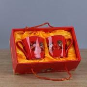 喜庆礼品陶瓷对杯套装适用促销回礼可加logo