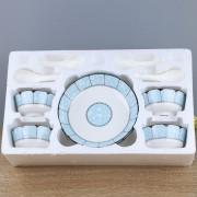 13头陶瓷餐具套装商务礼品赠品可定制LOGO