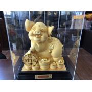 绒沙金福旺财旺 生肖猪摆件 旺财摆件(大号)
