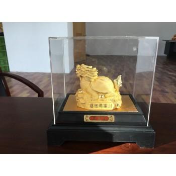 瑞兽龙龟绒沙金--摆件