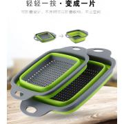 可折叠塑料洗菜篮 沥水篮
