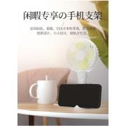 迷你桌面小风扇随身便携式家用静音可做手机支架风扇