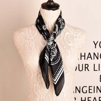 新款春夏季女士优质小腰果缎面70方丝巾