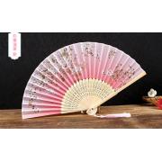 中国风绢扇 折叠丝绸扇