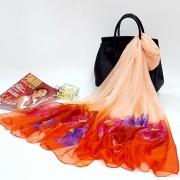 新款太阳花大尺寸30D雪纺丝巾 防晒围巾披肩