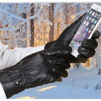 触屏皮手套  使用手机专用手套