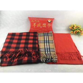 多色羊绒围巾