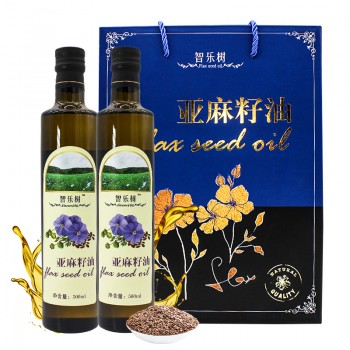 智乐树亚麻籽油礼盒 500ml*2