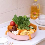 旋转沥水篮 水果蔬菜沥水篮360°旋转盆