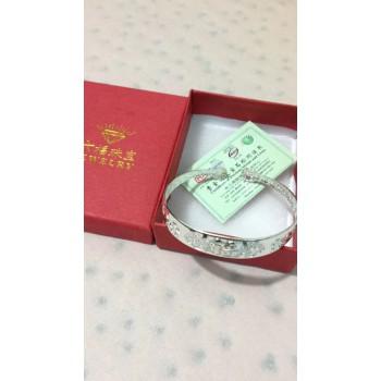 银手镯工艺品,六福珠宝盒子
