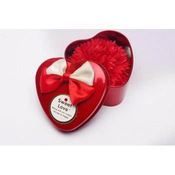 康乃馨单朵铁盒香皂花、母亲节礼品