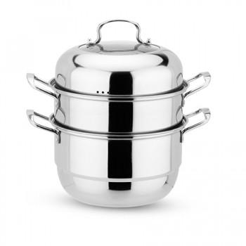 欧式多用汤煮蒸三层锅