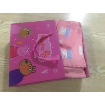 佩奇套盒(童被+童巾+方巾)生日礼物幼儿园必备