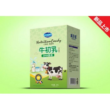 牛初乳DHA藻油压片糖果钙片