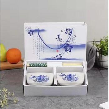 青花瓷2碗2筷