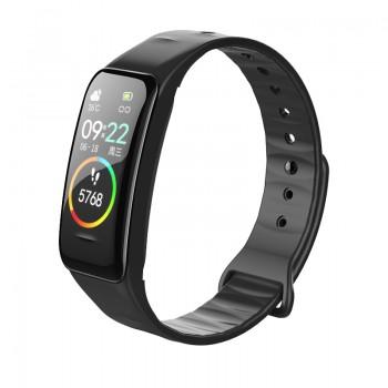 新款彩屏智能手环体温 检测心率血压健康运动计步器来电提醒手环